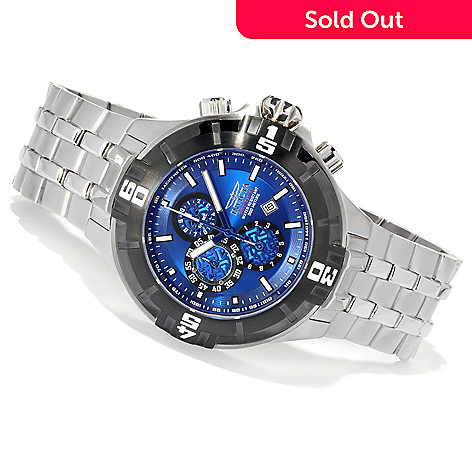 620-661 - Invicta 50mm Pro Diver XXL Quartz Chronograph Stainless Steel Bracelet Watch