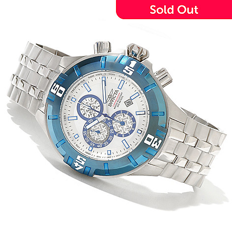 620-668 - Invicta 50mm Pro Diver XXL Quartz Chronograph Stainless Steel Bracelet Watch