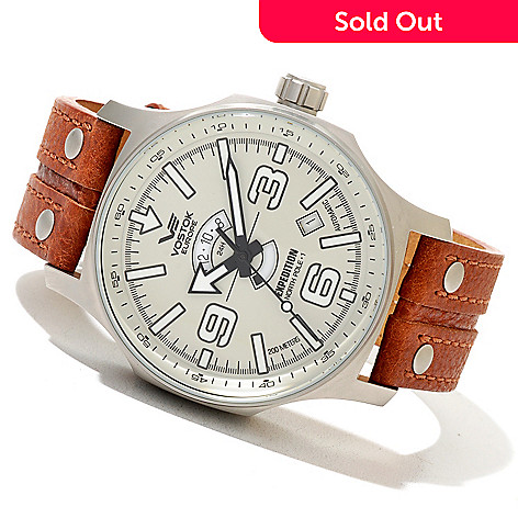 620-671 - Vostok-Europe 48mm Expedition North Pole-1 Limited Edition Automatic Leather Strap Watch