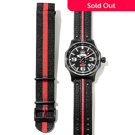 620-672 - Vostok-Europe Men's Expedition North Pole-1 Limited Edition Automatic Leather Strap Watch
