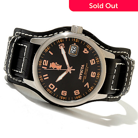 620-680 - Invicta Men's I Force Legarto Quartz Leather Strap Watch w/ Collector's Box
