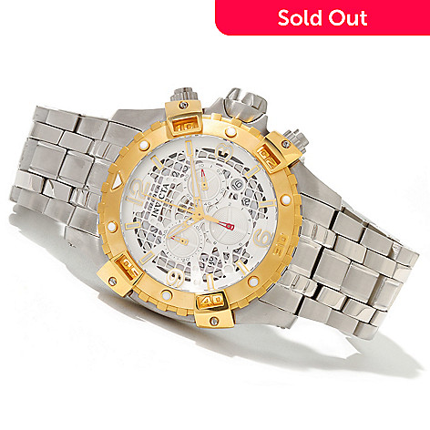 620-681 - Invicta Men's Sea Thunder Quartz Chronograph Stainless Steel Bracelet Watch
