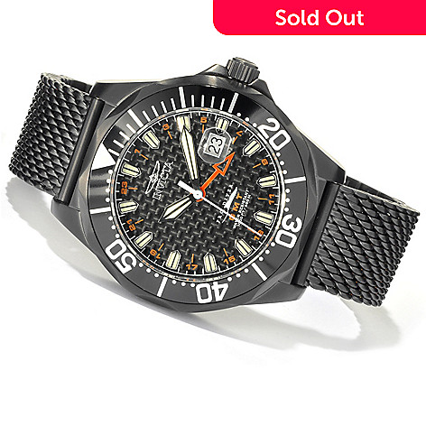 620-685 - Invicta Men's Pro Diver Swiss Made Quartz GMT Mesh Stainless Steel Bracelet Watch