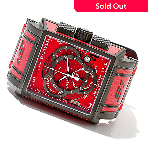 620-690 - Invicta Rectangular S1 Touring Edition Swiss Made Quartz Chronograph Strap Watch