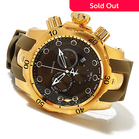 620-691 - Invicta Reserve Men's Venom Swiss Made Quartz Chronograph Polyurethane Strap Watch