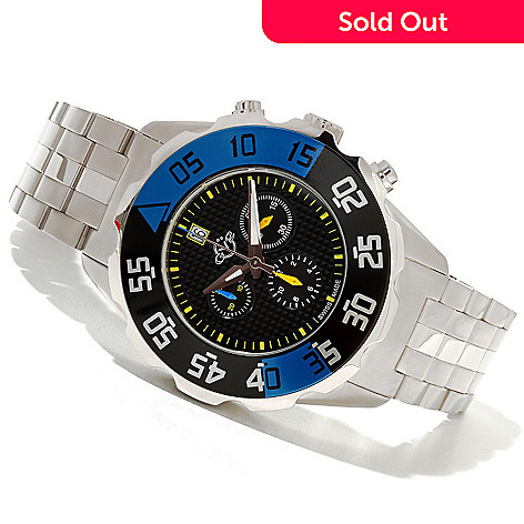 620-700 - GV2 by Gevril Men's Parachute Swiss Made Limited Edition Quartz Chronograph Bracelet Watch