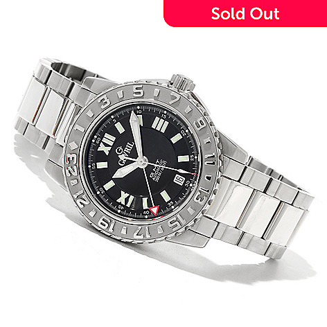 620-701 - Gevril Men's Sea Cloud Limited Edition Swiss Made Automatic GMT Stainless Steel Bracelet Watch