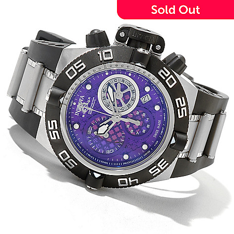 620-709 - Invicta Mid-Size Subaqua Noma IV Swiss Made Quartz Chronograph Polyurethane Strap Watch