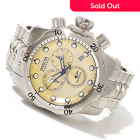 620-711 - Invicta Reserve Men's Venom Swiss Made Quartz Chronograph Stainless Steel Bracelet Watch