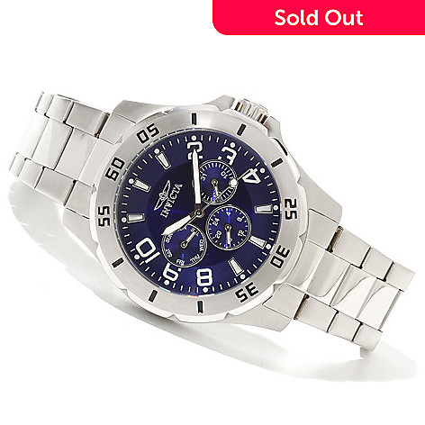 620-717 - Invicta Men's Specialty Quartz Stainless Steel Bracelet Watch w/ Three-Slot Collector's Box