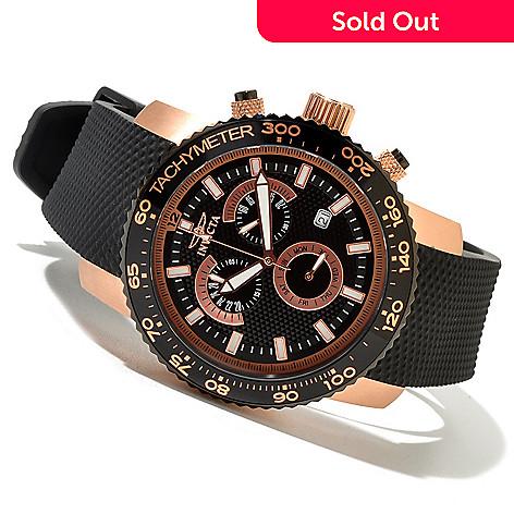 620-722 - Invicta Men's Specialty Quartz Chronograph Strap Watch w/ 3-slot Collector's Box