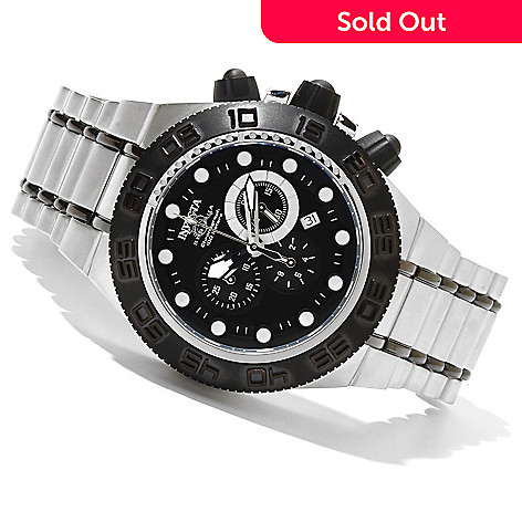 620-737 - Invicta Men's Subaqua Sport Quartz Chronograph Stainless Steel Bracelet Watch w/ 3-Slot Dive Case