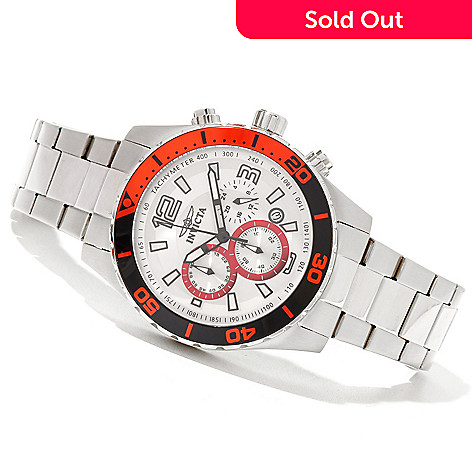 620-742 - Invicta 45mm Pro Diver Sport Quartz Chronograph Bracelet Watch w/ Three-Slot Dive Case