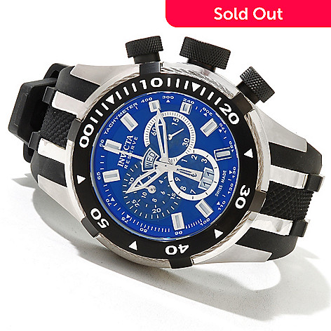 620-748 - Invicta Reserve Men's Bolt II Swiss Made Quartz Chronograph Strap Watch w/ Three-Slot Dive Case