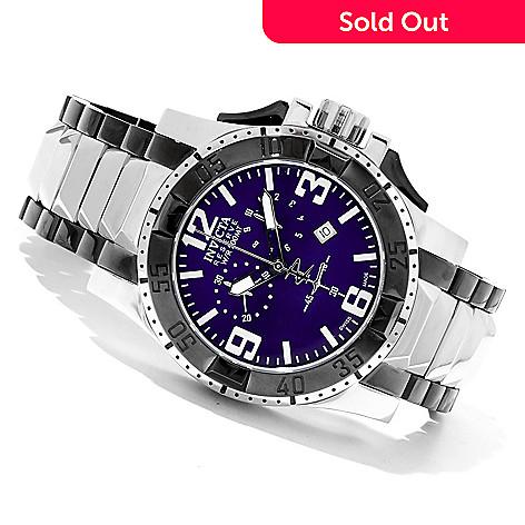 620-749 - Invicta Reserve Men's Excursion Swiss Made Quartz Chronograph Bracelet Watch w/ 3-Slot Dive Case