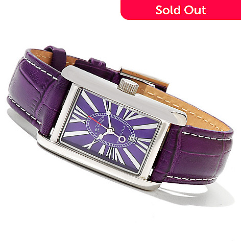 620-756 - Ritmo Mundo Women's Mini Data Swiss Quartz Leather Strap Watch