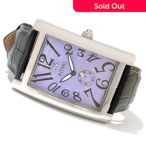 620-757 - Ritmo Mundo Men's Gran Data Swiss Made Quartz Leather Strap Watch
