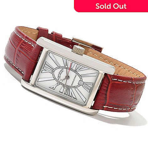 620-759 - Ritmo Mundo Women's Mini Data Swiss Quartz Leather Strap Watch