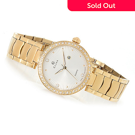 620-825 - Clara by CW Women's Quartz Bracelet Watch Made w/ Swarovski® Elements