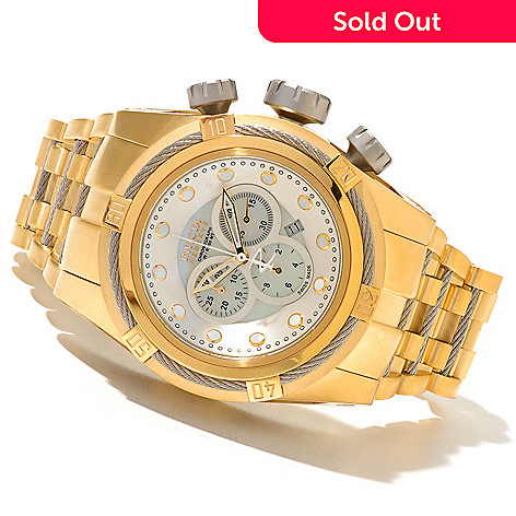 620-837 - Invicta Reserve 52mm Bolt Zeus Swiss Made Quartz Chronograph Stainless Steel Bracelet Watch