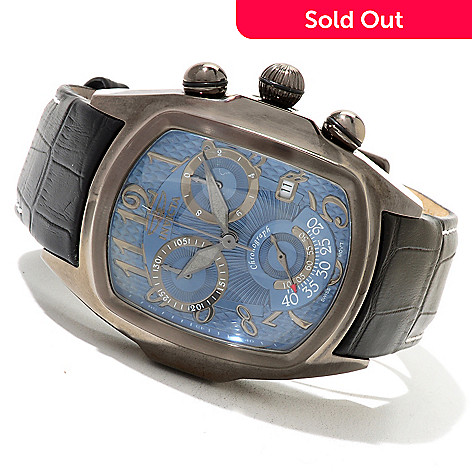 620-838 - Invicta Men's Dragon Lupah Swiss Made Quartz Chronograph Stainless Steel Leather Strap Watch