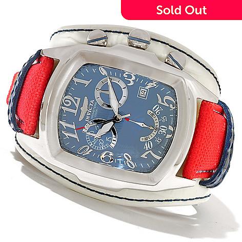 620-849 - Invicta Men's Dragon Lupah Legarto Quartz Chronograph Genuine Leather Strap Watch
