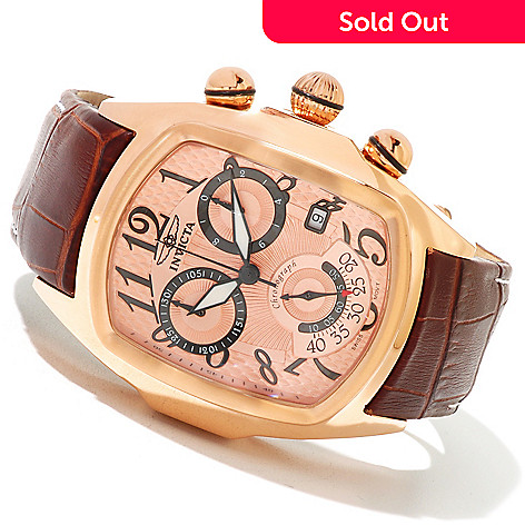 620-852 - Invicta Men's Dragon Lupah Swiss Quartz Chronograph Stainless Steel Leather Strap Watch