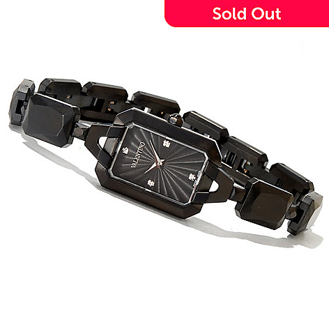 620-876 - Valentino Women's Minigemme Swiss Made Quartz Black IP Stainless Steel Bracelet Watch