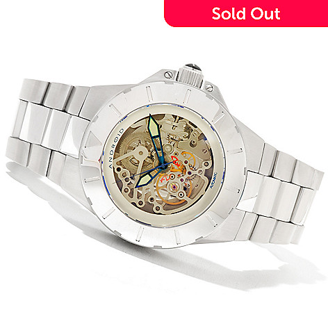 621-035 - Android Men's DM Enforcer 45 Automatic Skeletonized Stainless Steel Bracelet Watch