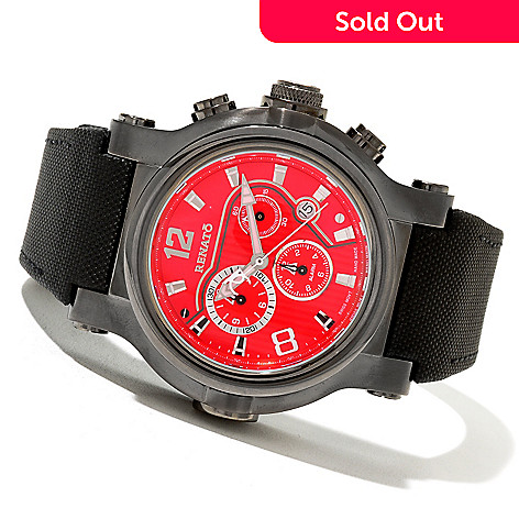 621-166 - Renato Men's T-Rex Sport Swiss Quartz Chronograph Stainless Steel Strap Watch