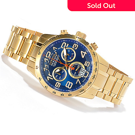 621-180 - Invicta Reserve Men's Military Swiss Made Quartz Chronograph Stainless Steel Bracelet Watch