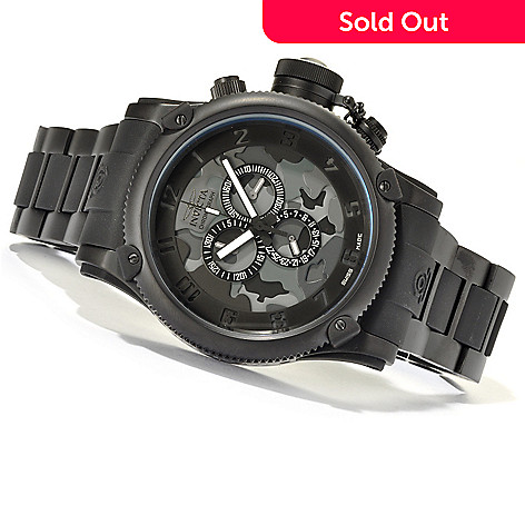 621-181 - Invicta Men's Russian Diver Swiss Made Quartz Chronograph Bracelet Watch