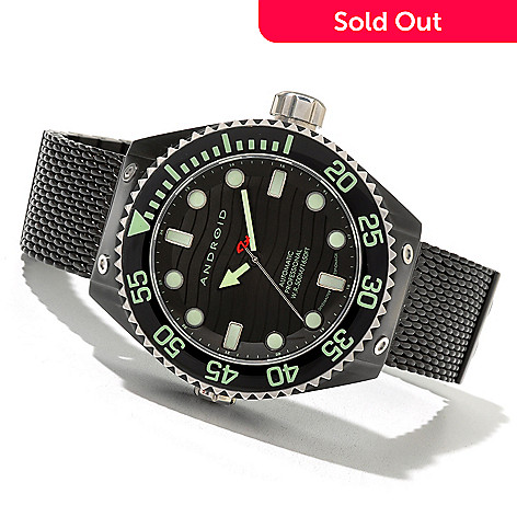 621-190 - Android Men's Divemaster Espionage 2 Automatic Stainless Steel Bracelet Watch