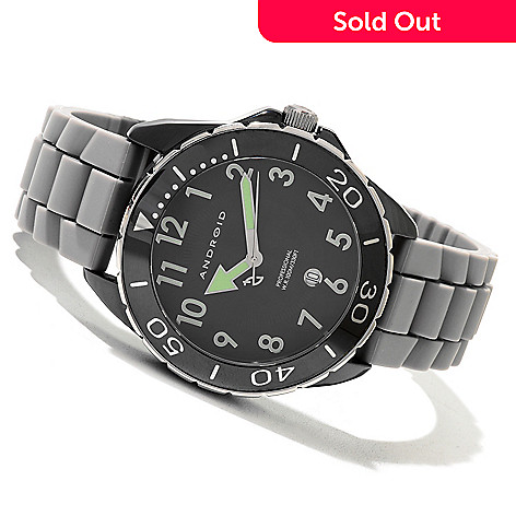 621-191 - Android Men's Exotic 2 Quartz Ceramic Rubber Strap Watch
