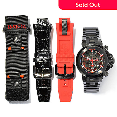 621-192 - Invicta Men's Coalition Forces Trigger Black Label Swiss Made Quartz Watch w/ Three-Slot Dive Case