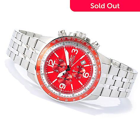 621-193 - Invicta Men's Specialty Aviator Quartz Chronograph Bracelet Watch w/ 20-Slot Box