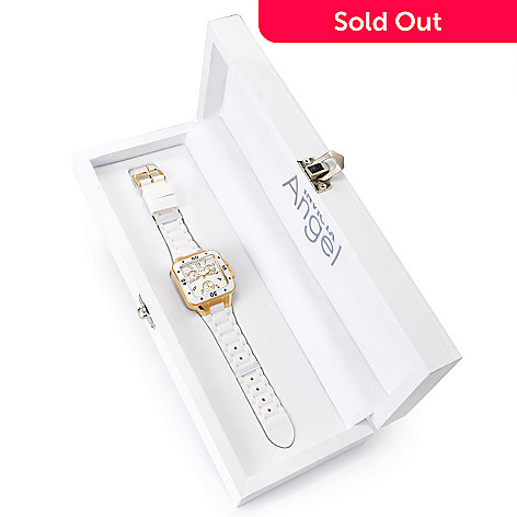 621-197 - Invicta Women's Angel Quartz Stainless Steel Silicone Strap Watch