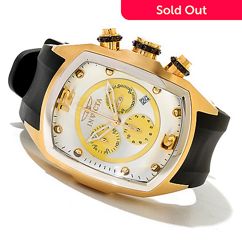 621-261 - Invicta Lupah Revolution Quartz Chronograph Stainless Steel Polyurethane Strap Watch