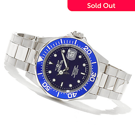 621-267 - Invicta Men's Pro Diver Swiss Quartz Bracelet Watch w/ Three-Slot Collector's Box