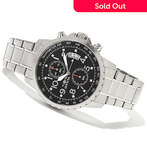 621-268 - Invicta Men's Specialty Quartz Chronograph Bracelet Watch w/ 3-Slot Collector's Box