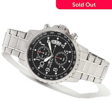 621-268 - Invicta Men's Specialty Quartz Chronograph Bracelet Watch w/ 3-Slot Collector's Box