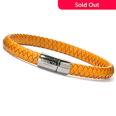 621-276 - Invicta Men's Leather Woven Bracelet