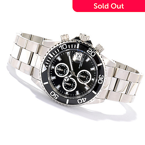 621-297 - Invicta Men's Pro Diver Quartz Chronograph Stainless Steel Bracelet Watch w/ Collector's Box
