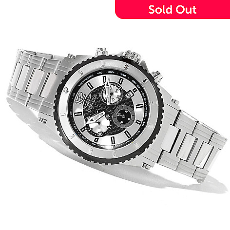 621-298 - Invicta Men's Specialty Sport Quartz Chronograph Stainless Steel Bracelet Watch w/ Collector's Box