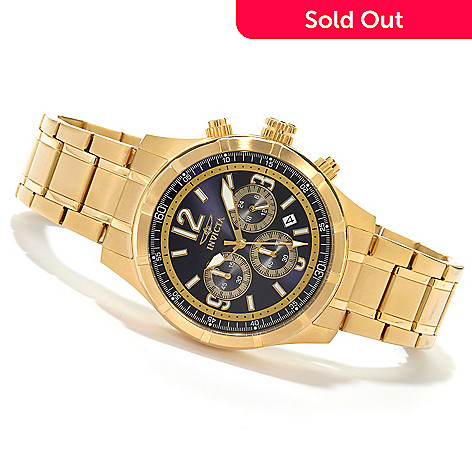 621-300 - Invicta Men's Specialty Quartz Chronograph Bracelet Watch w/ 3-Slot Collector's Box