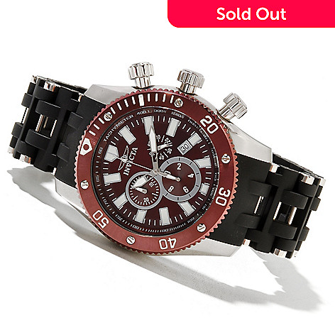 621-305 - Invicta Men's Sea Spider Quartz Chronograph Stainless Steel & Polyurethane Bracelet Watch