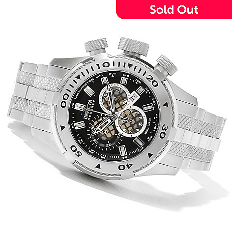 621-310 - Invicta Reserve Men's Bolt II Swiss Made Quartz Chronograph Stainless Steel Bracelet Watch