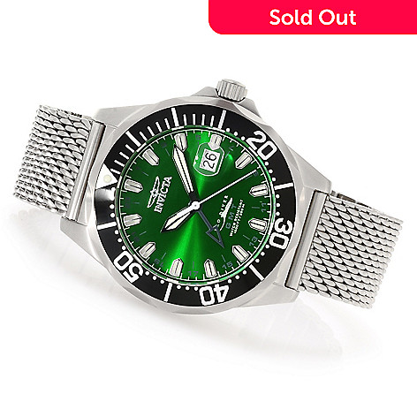 621-313 - Invicta 47mm Pro Diver Swiss Made Quartz GMT Mesh Stainless Steel Bracelet Watch