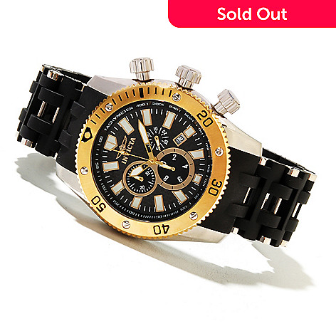 621-320 - Invicta Men's Sea Spider Quartz Chronograph Carbon Fiber Dial Bracelet Watch