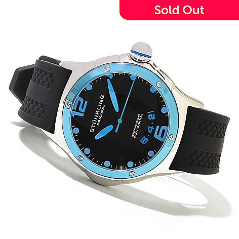 621-321 - Stührling Original Men's Alpine Slope Quartz Stainless Steel Rubber Strap Watch